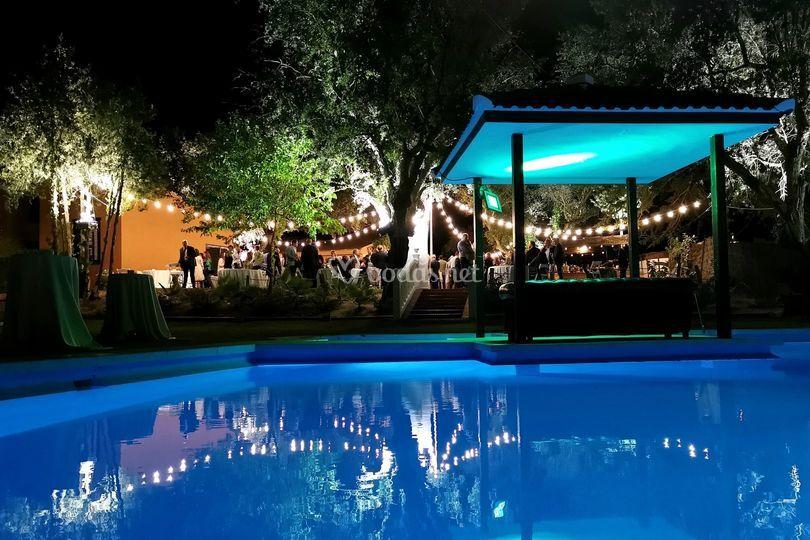 Templete piscina