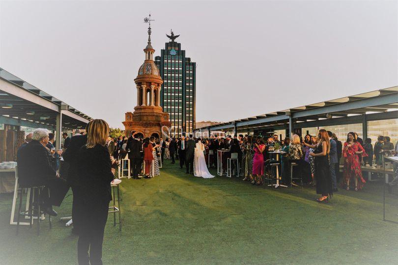 Cóctel boda terraza