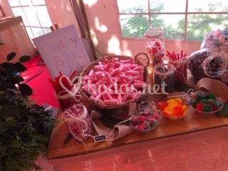 Mesa de gominolas y chuches