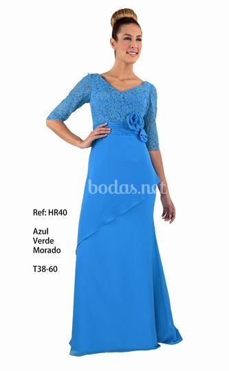Vestidos de fiesta rosa azul precios