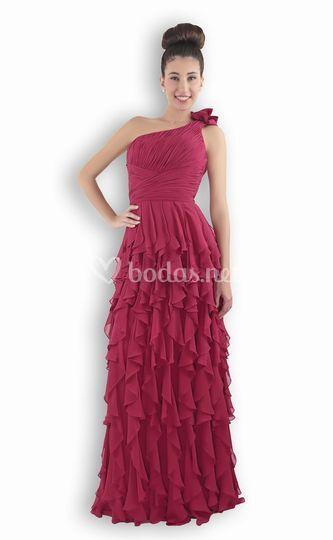 Rosa azul vestido largo