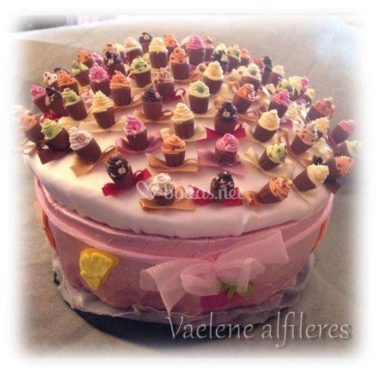 Alfileres cup cake