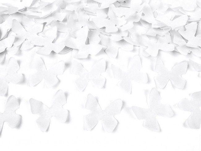 Confeti mariposas blancas
