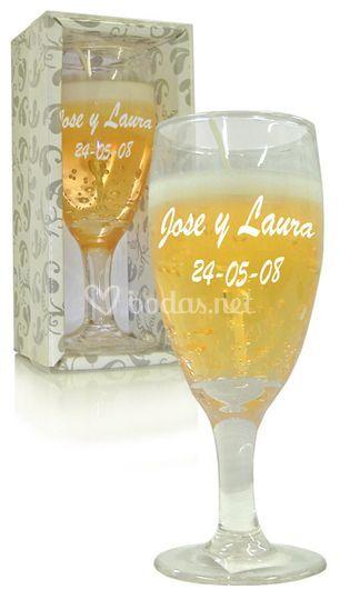 Vela copa de champan personalizada de fabrica de la for Fabrica de copas