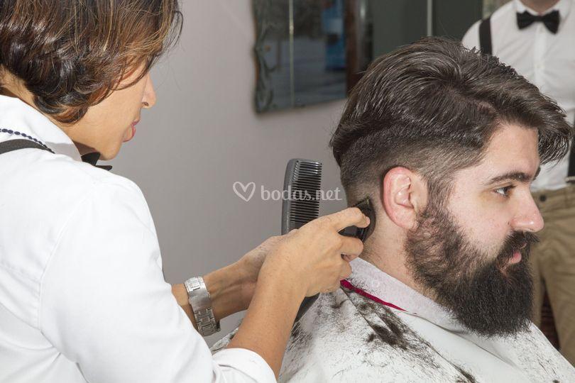 Corte y barba