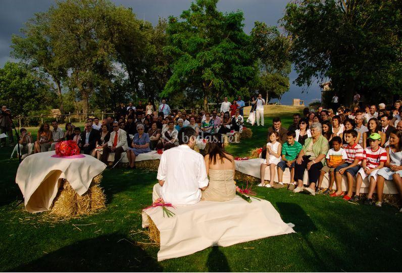 Ceremonia en el prado