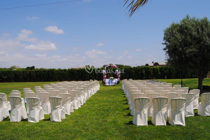 Espacio jardin boda civil