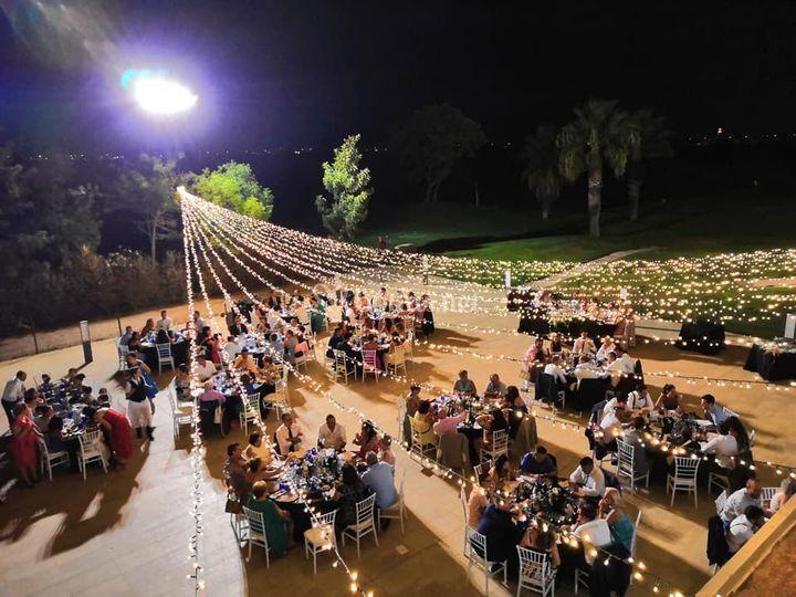 Iluminación boda nocturna