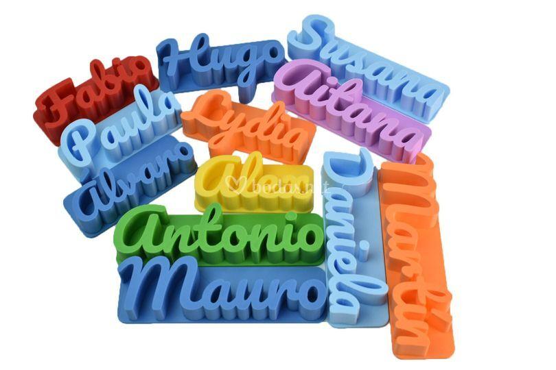 Nombre 3D con imán