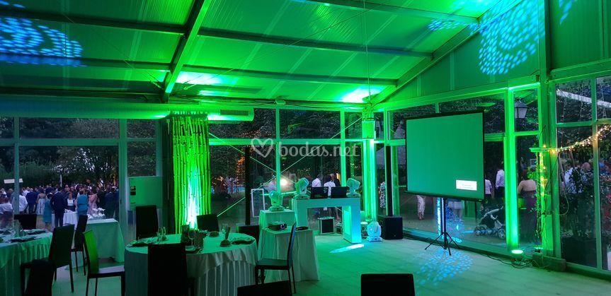 Creación de ambiente en salones de bodas