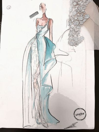 Boceto Vestido Carla