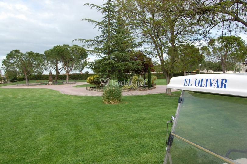 El Olivar, jardines