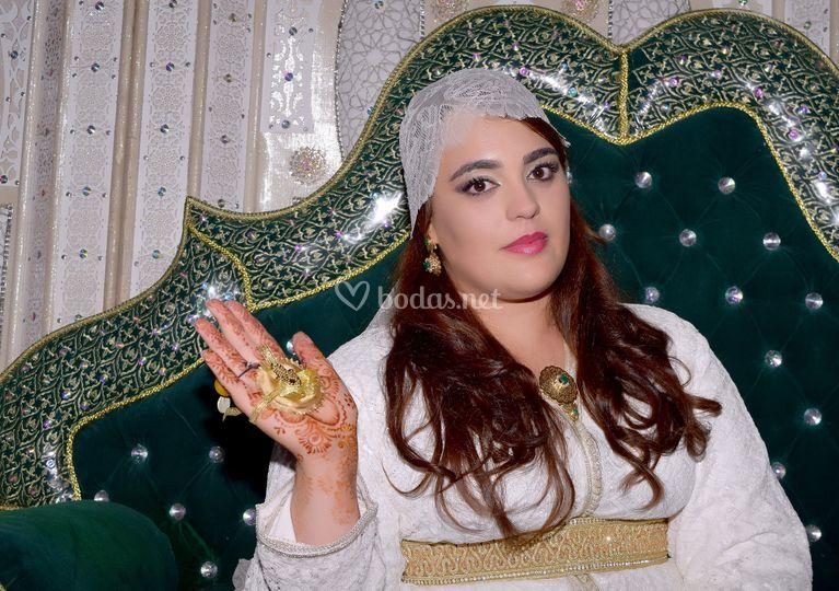 Novia con henna