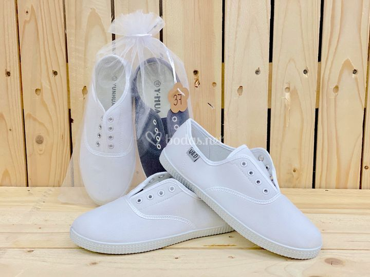 Zapatillas de loneta blancas