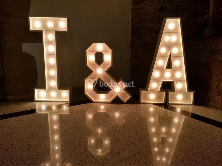 Letras decorativas para bodas