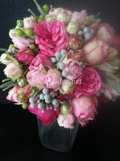 Rosa inglesa  con  brunia