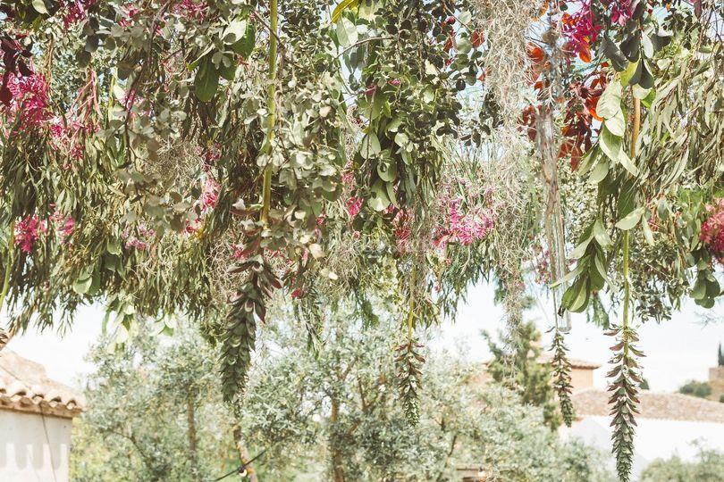Techo floral decoración  evento
