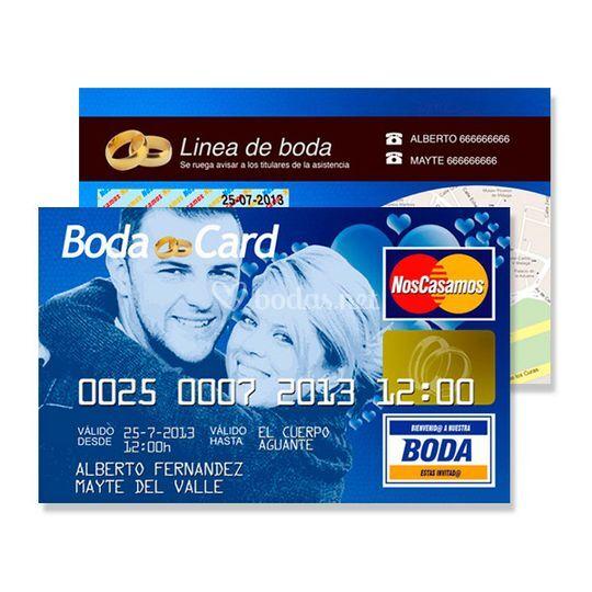Invitación tarjetade credito