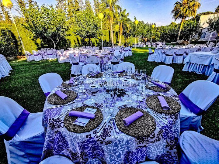 Montaje de boda jardines