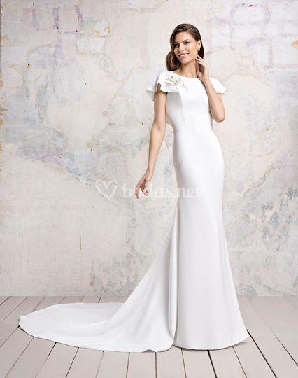 Vestido novia Peonias