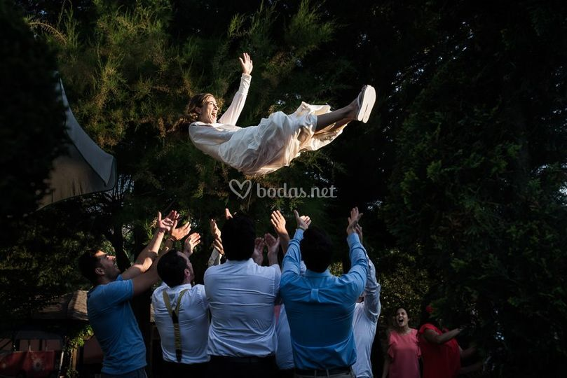 Fiesta en la boda