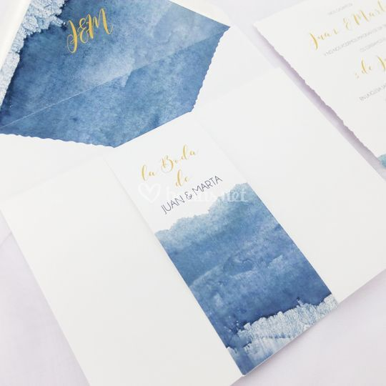 Invitación Navy Blue