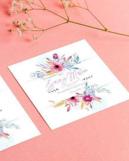 Invitación de flores