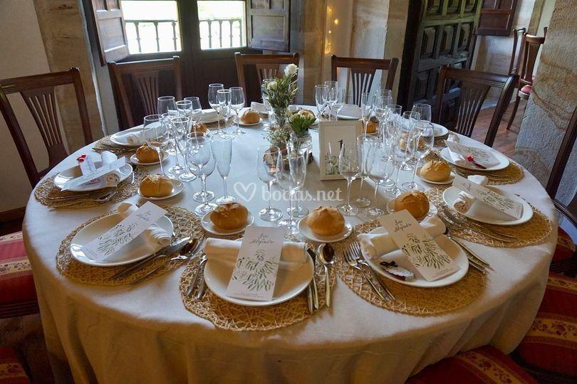 Decoración para el banquete