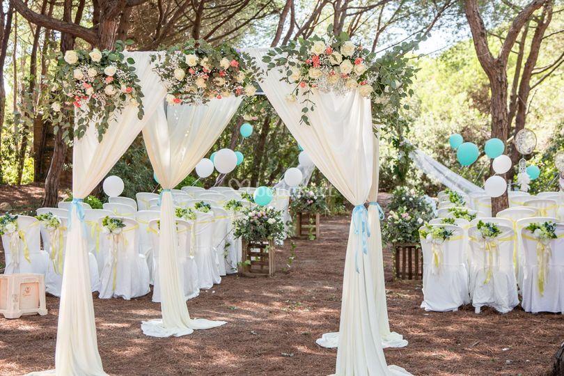 Ceremonia boda rústica idea