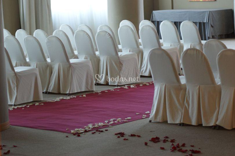 Montaje para ceremonia