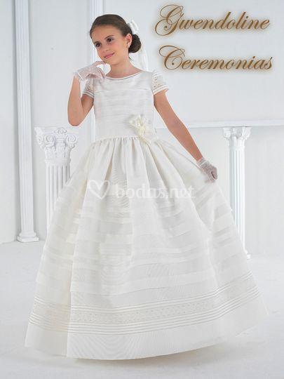 Vestido Comunión rejilla