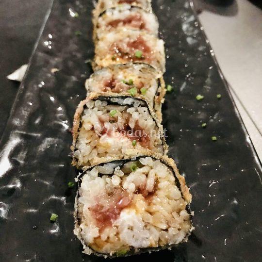 Futomaki japonés