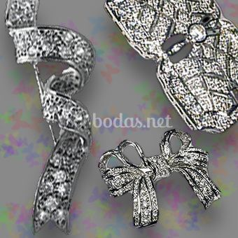 Broches plata de ley para mantillas
