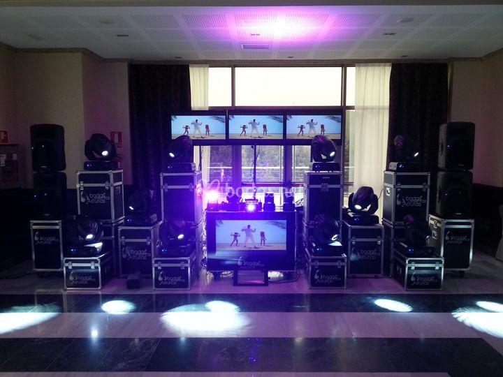 Disco móvil con vídeos musicales