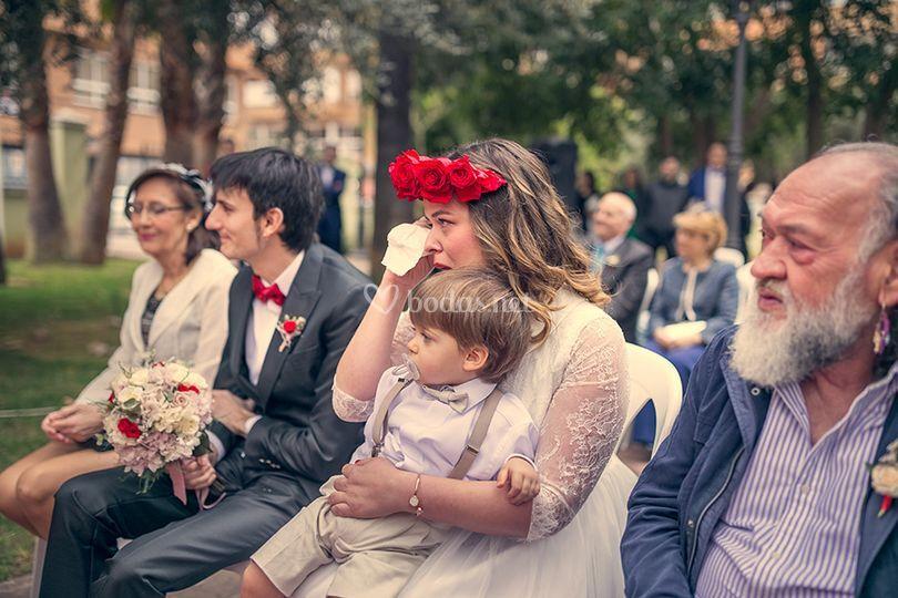 La emoción de la novia