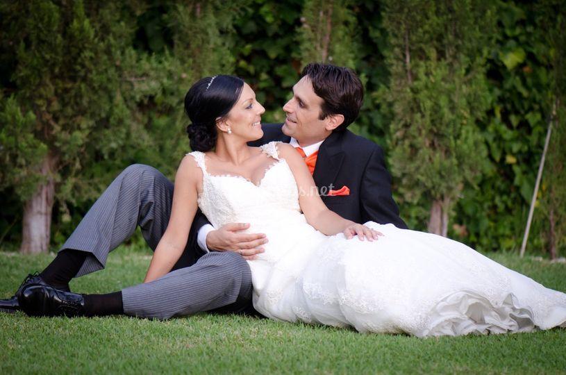 Fotografía romántica de boda
