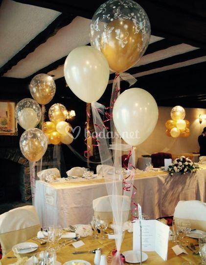 Centros de mesa con helio