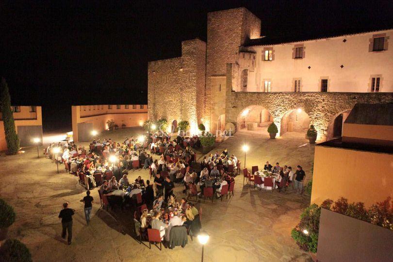 Cena en el exterior