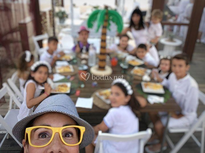 Cenando en Chiringuito