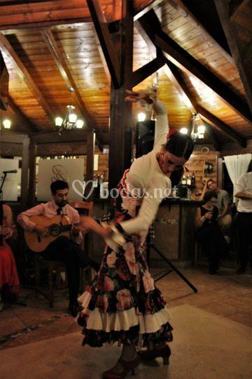 Cuadro de baile flamenco