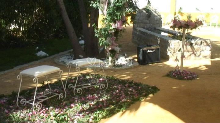Decoración boda civil en nuestra terraza
