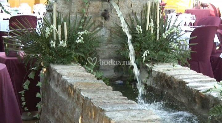 Fuente en terraza