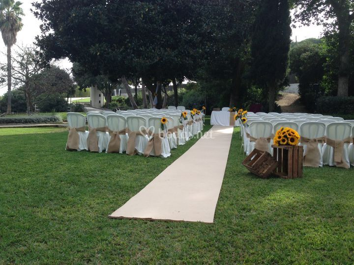 Ceremonia con girasoles