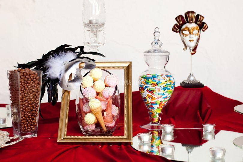 Detalle buffet dulces en barra libre