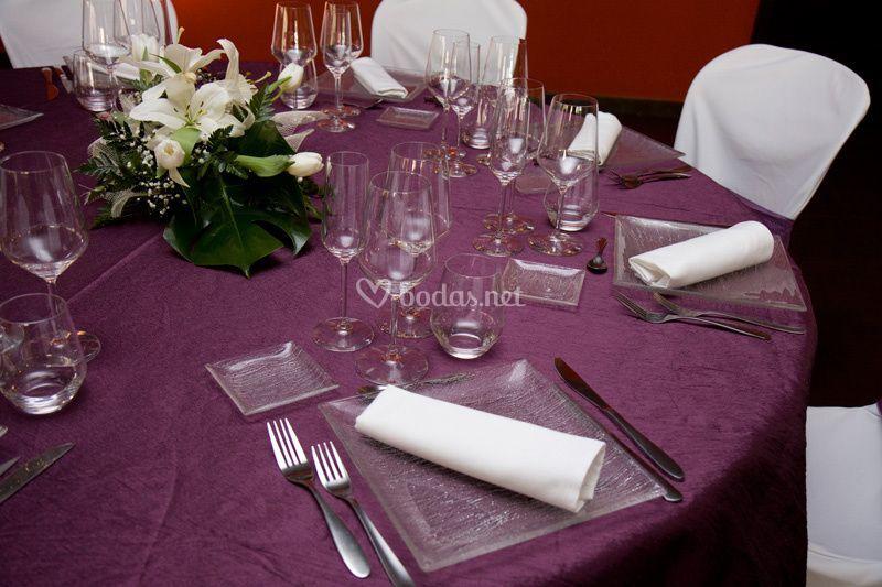 Detalle menaje y manteler a de restaurante malloles foto 10 for Menaje restaurante