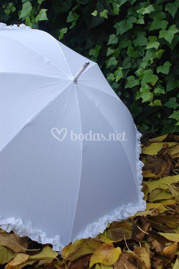 Paraguas para la novia