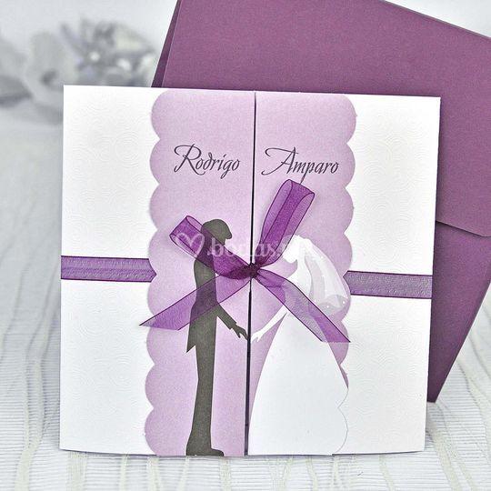 Invitación violeta