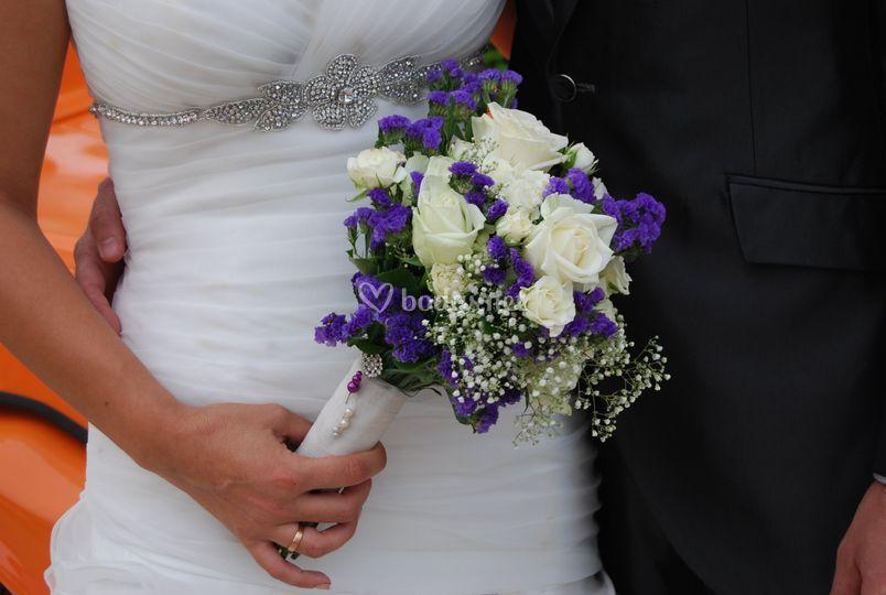 Ramo de novia de flor natural