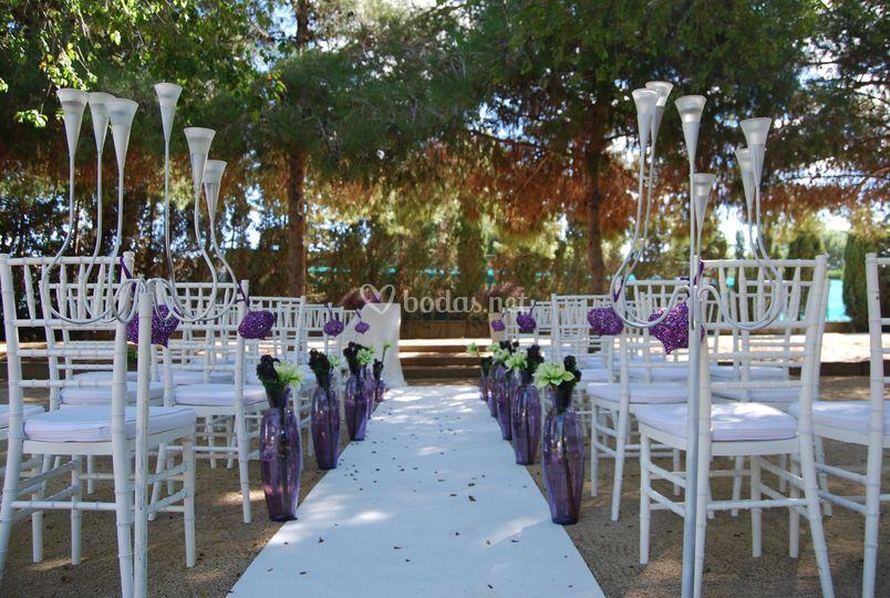 Ceremonia blanca y lila