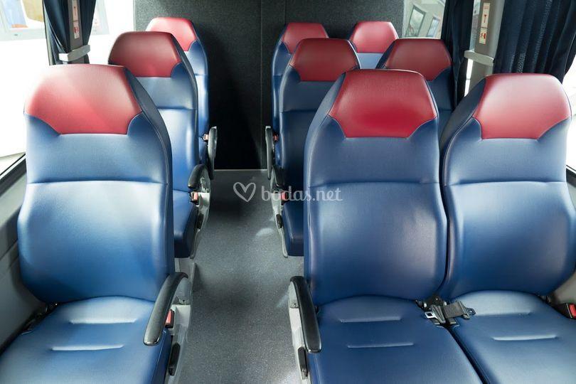 Interior minibuses 9 plazas